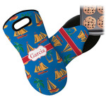Boats & Palm Trees Neoprene Oven Mitt (Personalized)
