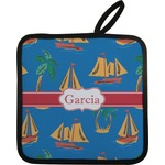 Boats & Palm Trees Pot Holder (Personalized)