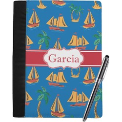 Boats & Palm Trees Notebook Padfolio (Personalized)