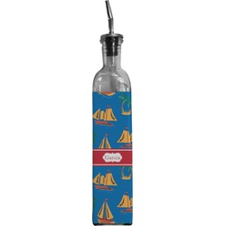 Boats & Palm Trees Oil Dispenser Bottle (Personalized)