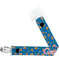 Boats & Palm Trees Pacifier Clips (Personalized)