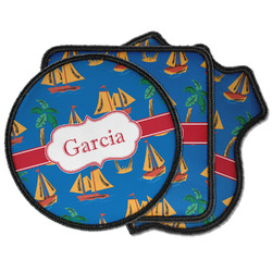 Boats & Palm Trees Iron on Patches (Personalized)