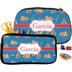 Boats & Palm Trees Pencil / School Supplies Bag (Personalized)