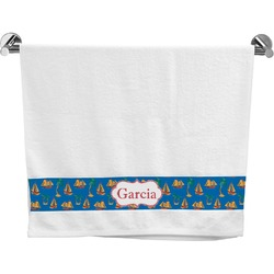 Boats & Palm Trees Bath Towel (Personalized)