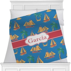 Boats & Palm Trees Blanket (Personalized)