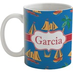 Boats & Palm Trees Coffee Mug (Personalized)