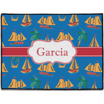 Boats & Palm Trees Door Mat (Personalized)