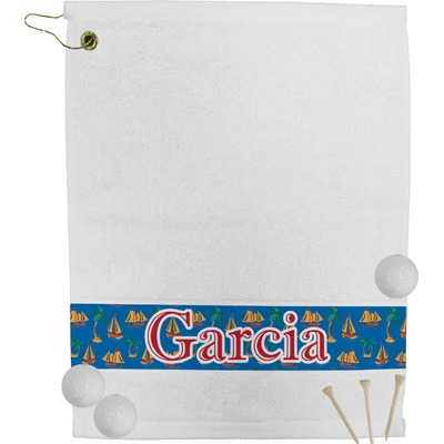 Boats & Palm Trees Golf Bag Towel (Personalized)
