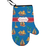 Boats & Palm Trees Right Oven Mitt (Personalized)