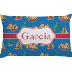 Boats & Palm Trees Pillow Case (Personalized)