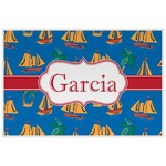 Boats & Palm Trees Laminated Placemat w/ Name or Text