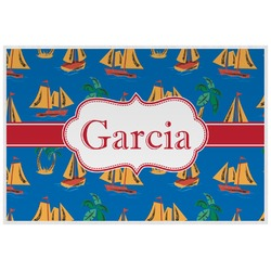 Boats & Palm Trees Placemat (Laminated) (Personalized)