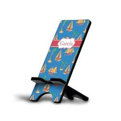 Boats & Palm Trees Phone Stand (Personalized)