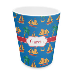 Boats & Palm Trees Plastic Tumbler 6oz (Personalized)