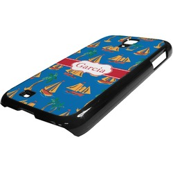Boats & Palm Trees Plastic Samsung Galaxy 4 Phone Case (Personalized)