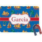 Boats & Palm Trees Rectangular Fridge Magnet (Personalized)