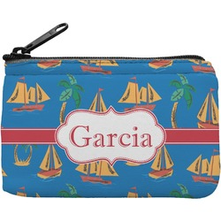 Boats & Palm Trees Rectangular Coin Purse (Personalized)
