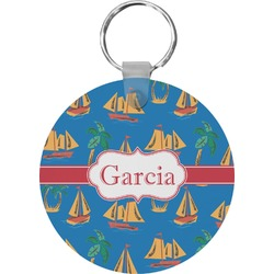 Boats & Palm Trees Keychains - FRP (Personalized)