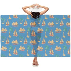 Boats & Palm Trees Sheer Sarong (Personalized)