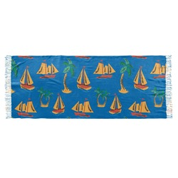 Boats & Palm Trees Faux Pashmina Scarf (Personalized)
