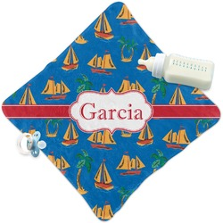 Boats & Palm Trees Security Blanket (Personalized)