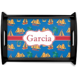 Boats & Palm Trees Wooden Trays (Personalized)