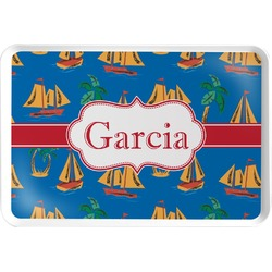 Boats & Palm Trees Serving Tray (Personalized)