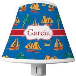 Boats & Palm Trees Shade Night Light (Personalized)