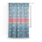 Boats & Palm Trees Sheer Curtains (Personalized)