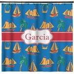 Boats & Palm Trees Shower Curtain (Personalized)