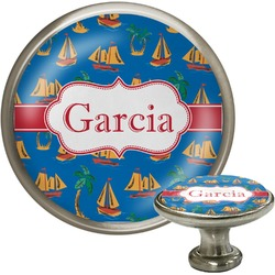 Boats & Palm Trees Cabinet Knobs (Personalized)