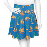 Boats & Palm Trees Skater Skirt (Personalized)