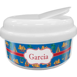 Boats & Palm Trees Snack Container (Personalized)