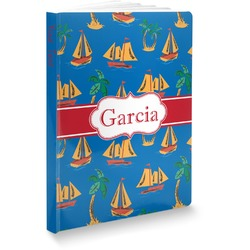 Boats & Palm Trees Softbound Notebook (Personalized)