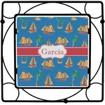 Boats & Palm Trees Square Trivet (Personalized)