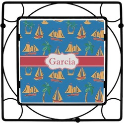 Boats & Palm Trees Trivet (Personalized)