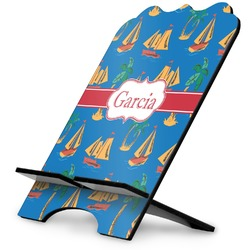 Boats & Palm Trees Stylized Tablet Stand (Personalized)