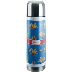 Boats & Palm Trees Stainless Steel Thermos (Personalized)