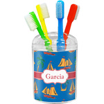 Boats & Palm Trees Toothbrush Holder (Personalized)