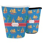Boats & Palm Trees Waste Basket (Personalized)