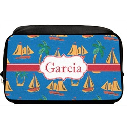 Boats & Palm Trees Toiletry Bag / Dopp Kit (Personalized)
