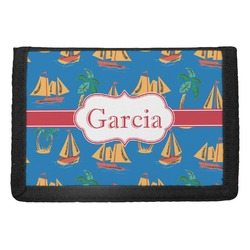 Boats & Palm Trees Trifold Wallet (Personalized)