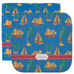 Boats & Palm Trees Facecloth / Wash Cloth (Personalized)