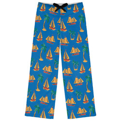 Boats & Palm Trees Womens Pajama Pants (Personalized)