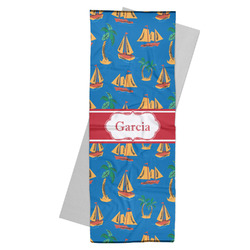 Boats & Palm Trees Yoga Mat Towel (Personalized)