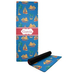 Boats & Palm Trees Yoga Mat (Personalized)