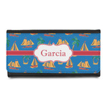 Boats & Palm Trees Leatherette Ladies Wallet (Personalized)