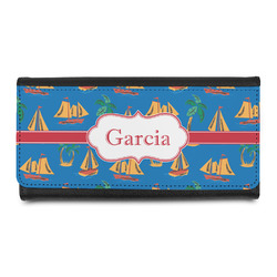 Boats & Palm Trees Ladies Wallet (Personalized)