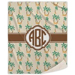 Palm Trees Sherpa Throw Blanket (Personalized)