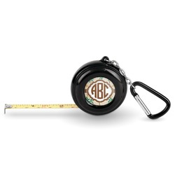 Palm Trees Pocket Tape Measure - 6 Ft w/ Carabiner Clip (Personalized)